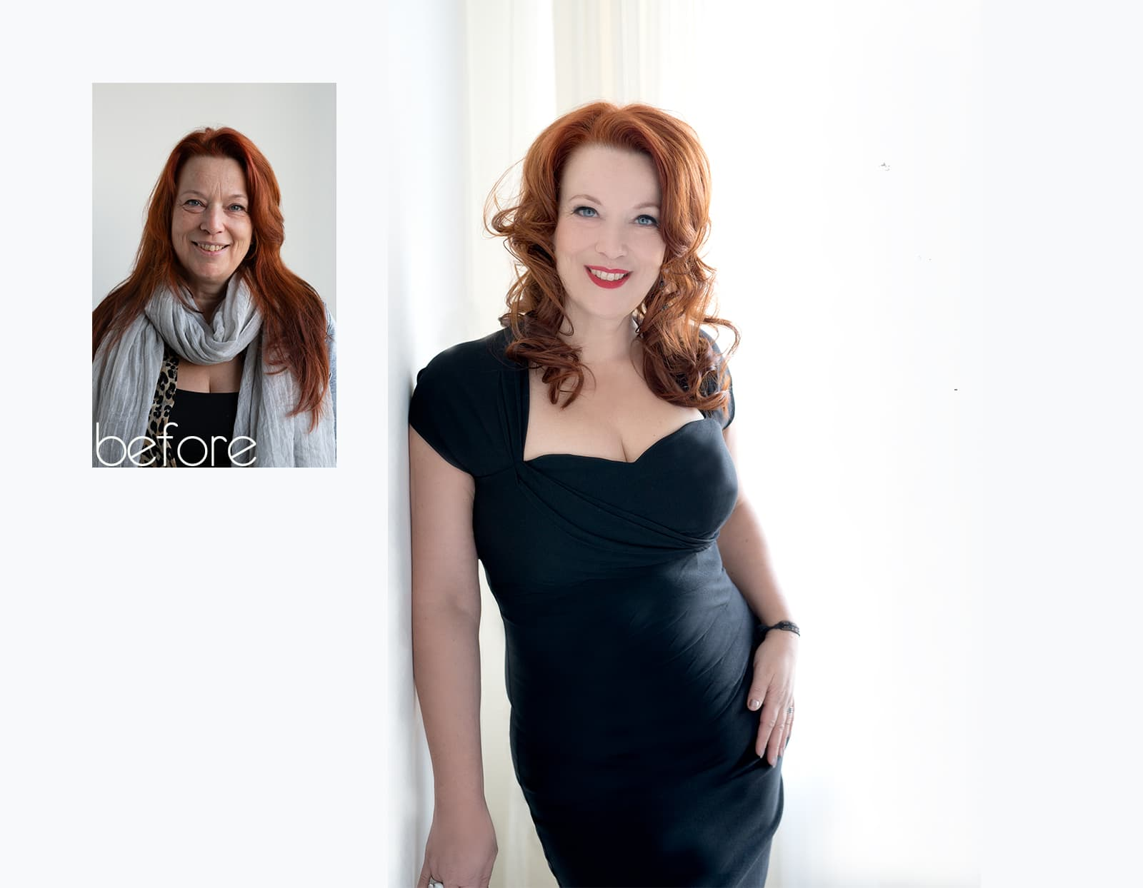 before after fotoshoot Anki Rotterdam beauty headshot corporate branding fotostudio Katinka Tromp