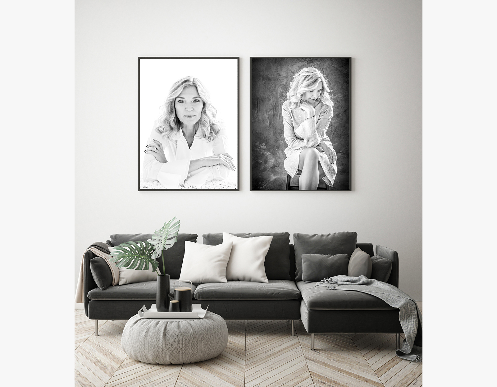 Wall art sofa