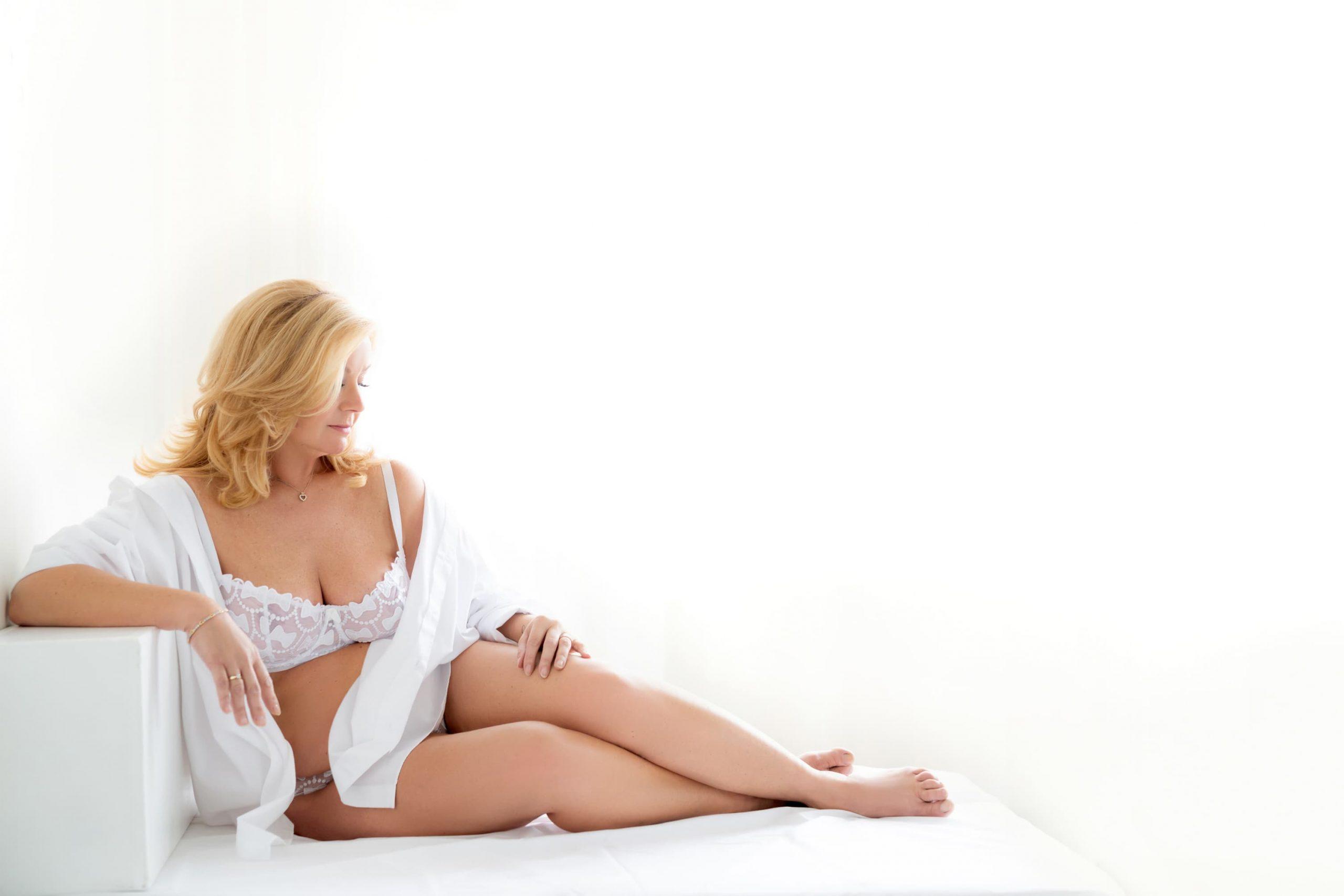 boudoir witte lingerie
